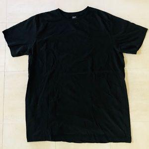 Falls Creek Men's Plain Black T-Shirt